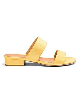 Yellow Flexi Sole Mule Sandals E Fit