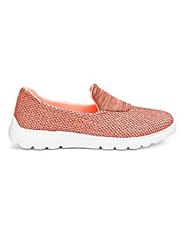 Coral Marl Slip On Leisure Shoes E Fit