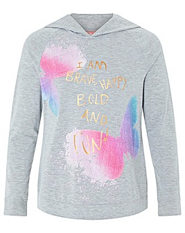 Monsoon I Am Brave Hooded  Top