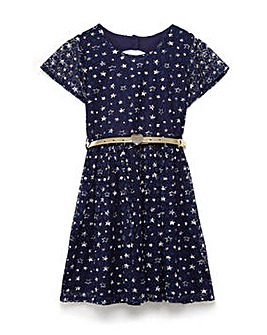 Yumi Girl Patterned Skater Dress