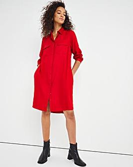 Paprika Pocket Shirt Dress