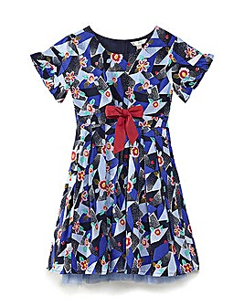 Yumi Girl Geometric Floral Dress