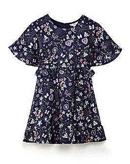 Yumi Girl Cape Sleeve Floral Dress