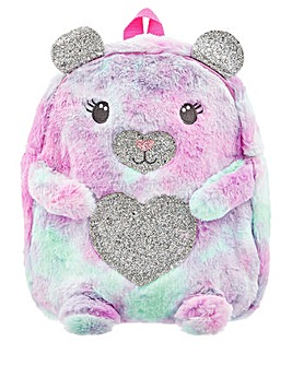 Accessorize Ombre Fluffy Bear Backpack