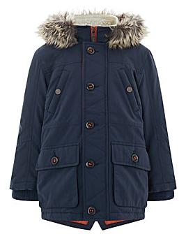 Monsoon Preston Navy Parka Coat