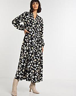 Floral Button Through Maxi Dress