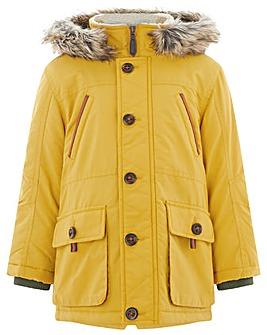 Monsoon Perry Mustard Parka Coat