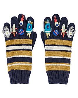 Monsoon Boy Space Novelty Gloves