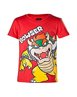 Super Mario Bros Red Bowser Kids T-Shirt