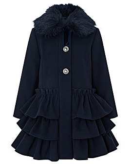 Monsoon Ferne Frill Coat