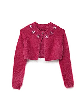 Yumi Girl Fluffy Party Cardigan
