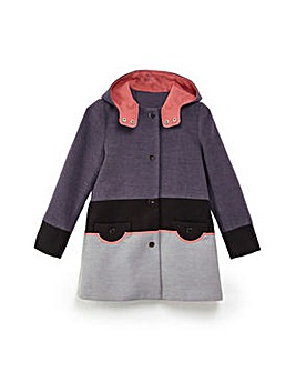 Yumi Girl Colour Block Coat