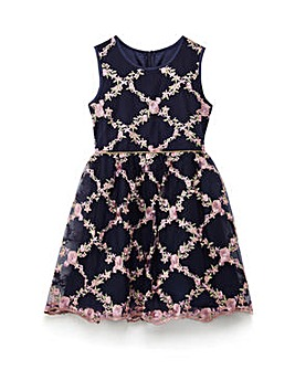 Yumi Girl Floral Prom Skater Dress