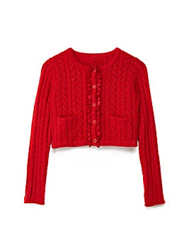 Yumi Girl Pointelle Stitch Cardigan