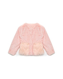 Yumi Girl Faux Fux Jacket