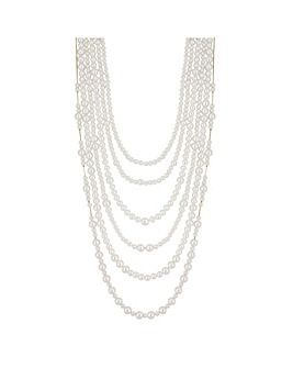 Mood Pearl Multi Row Statement Necklace