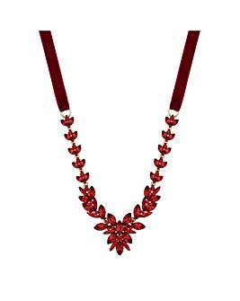 Mood Crystal Leaf Statement Necklace