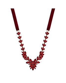 Mood Crystal Leaf Statement Necklace