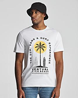 Surfboard Graphic T-Shirt Long
