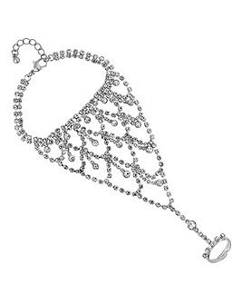 Mood Diamante Statement Hand Chain