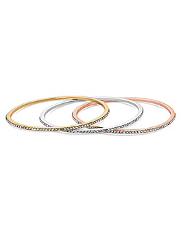 Mood Crystal Bangle Set