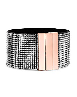 Mood Crystal Sparkle Cuff Bracelet
