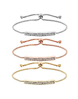 Mood Crystal Toggle Bracelet Set