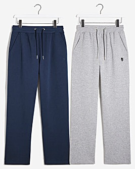 Pack of Two Open Hem Jersey Joggers 31