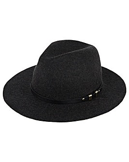 Accessorize Buckle Trim Fedora