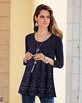 Together Embellished Jersey Top