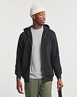 Black Full Zip Hood Reg