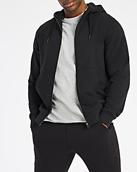 Black Full Zip Hood Reg