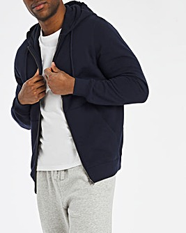 Navy Full Zip Hood Reg