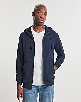 Navy Full Zip Hood Long