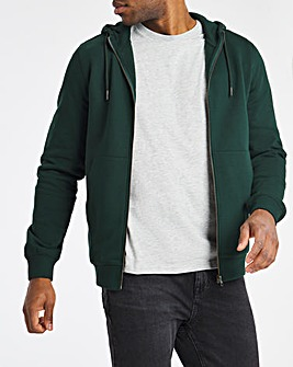 Forrest Green Full Zip Hood Long