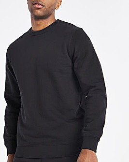 Black Crew Neck Sweat Long