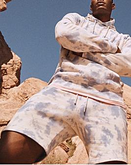 Tie Dye Fleece Short