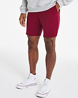 Burgundy Fleece Shorts