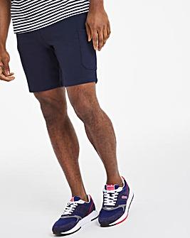 Navy Fleece Cargo Shorts