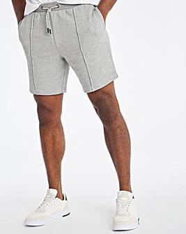 Grey Marl Fleece Cargo Shorts