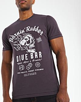 Burnin Rubber Graphic T-Shirt L
