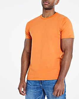 Apricot Heavyweight Bound Neck Tee Long