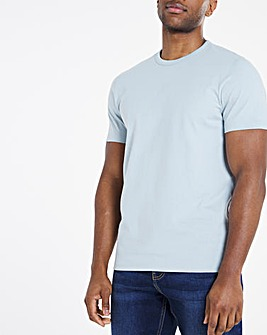 Heavyweight Blue Bound Neck Tee Long