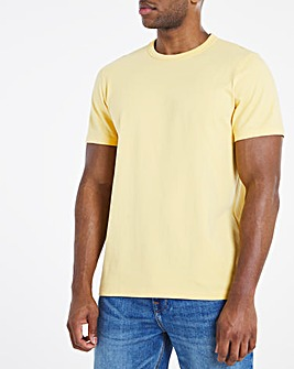 Heavyweight Yellow Bound Neck Tee Long