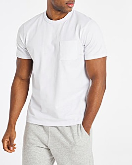White Heavyweight Pocket Tee Long