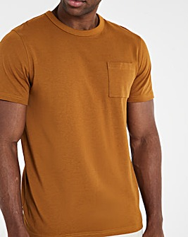 Tan Heavyweight Pocket Tee Long