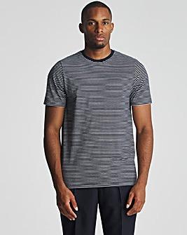 Jacamo Fine Stripe T-shirt Long