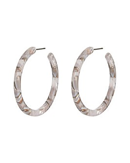 Accessorize Marbled Resin Hoop