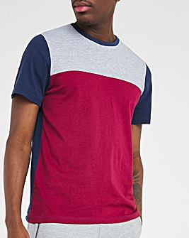 Burgundy Cut and Sew Tee Long