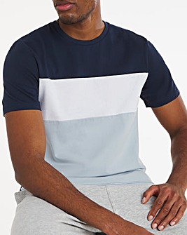 Navy Cut and Sew Tee Long